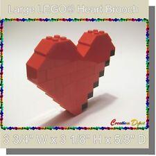 BrickCrafts LEGO® Fashion Jewelry Large Broken Heart Brooch Pin