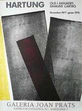 HARTUNG Affiche Originale Lithographie Joan Prats 1978