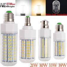 Ahorro De Energía 21w-39w E14 ES E27 SES B22 BC 5730 SMD LED MAZORCA