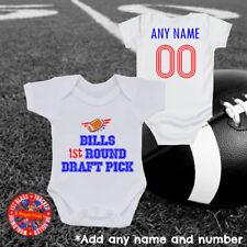 Bills Inspired American Football Baby Grow Vest, Personalised, Gift, Buffalo
