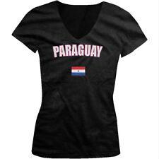 Paraguay Asunción South America Flag Country Heritage  Juniors V-neck T-shirt