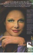 PUBLICITE  1973    COTY  cométiques mascara beauté des yeux