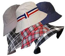UNISEX MEN LADIES REVERSIBLE 100% COTTON SUMMER BUCKET/BUSH HATS