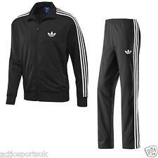 Nuevo Para Hombre Negro Adidas Originals Trébol logotipo Firebird chándal completo S-Xl