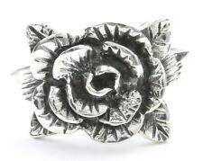 Rose Ring, Sterling Silver Flower Ring, 925, Boho, Gypsy, Festival Jewelry