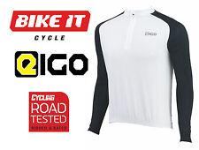 2016 NEW EIGO TEMPEST CYCLING JERSEY - LONG SLEEVE WHITE - MTB ROAD BIKE CYCLE