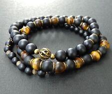 Spiritual Beads Men's Bracelet 8mm Onyx, Tiger Eye SINGLE / SET SALE