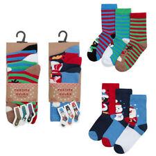 6 pares de calcetines de niños Niños Festivo De Navidad Novedad Para Chicos/Chicas