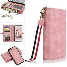 Denim Removable Zipper Wallet Case Cover Cash Holder Magnetic For IPHO