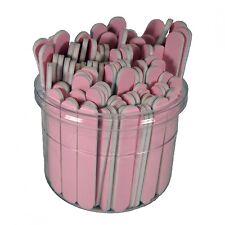 "Pink 3-1/2"" Mini 280/320 Grit Cushioned Washable Beauty Salon Spa Nail Files"