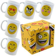 Emoji Mug 6 Designs EMOTICON Smiley en colère Blush Cœur Thé Café