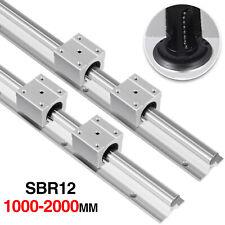 12mm SBR12 1000-2000mm Linear Rail Slide Shaft Rod Guide + SBR12UU Blocks