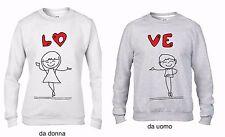 KIT 2 FELPE UNA DA UOMO UNA DONNA: LOVE LOVE