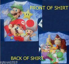 Super Mario t-shirt size 10-12 L 14-16 XL New Childs Luigi Yoshi tee