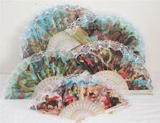 220 A Fan Dance Deco Spanish Flamenco Hand Wind Flower Summer Air