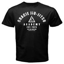 gracie jiu jitsu academy - Custom Men's Black T-Shirt Tee