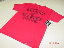 NWT Mens Detroit Red Wings Short Sleeve T Shirt Hockey Sport Fan Ice Man Top