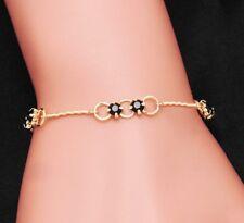 Gold Tone Crystal Friendship Bracelet For Women Adjustable Link Chain +Gift Bag