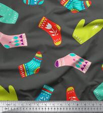 Soimoi Fabric Socks & Gloves Folk Art Fabric Prints By Yard - FA-511F