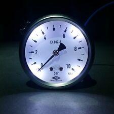 """Manometer Ø63mm  G1/4"""" hinten, mit Bügelbefestigung  -MIT LED Beleuchtung -EMPEO"""
