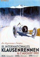 1932 Swiss Motor Racing  Poster A3/A2/A1 Print