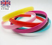 3 ALICE BANDS 12mm plastic headband hair band girls school hairband Teeth Plain
