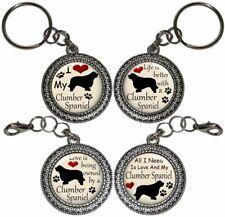 Clumber Spaniel Dog Key Ring Key Chain Purse Charm Zipper Pull Handmade Gift #2