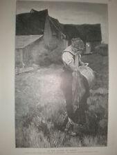 In the Shadow of Sorrow from Rudolf Hauz 1896 old print