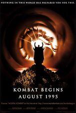 MORTAL KOMBAT Movie Poster PS3 XBOX