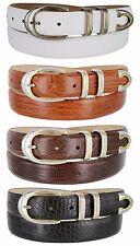 "Coronado - Genuine Leather Italian Calfskin Designer Dress Belt, 1-1/8"" Wide"
