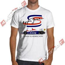 Ayrton Senna F1 Toleman TG184-2 White or Gray Soft Racing T Shirt Formula 1