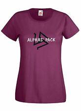 T-shirt Maglietta Donna J1612 Alphas' Pack Simbolo Beacon Hills Lacrosse