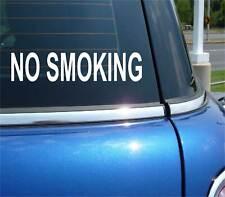 NO SMOKING TEXT OFFICE SCHOOL BUSINESS DECAL STICKER ART CAR WALL DECOR