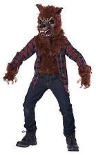 Blood Moon Werewolf Howling Child Costume - Brown/Red