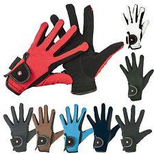HKM Pro Team Adulti Bambini Professional in nabuk Look Resistente Traspirante Equitazione Glove