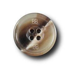 5 markante beige braun melierte Vierloch Designer Knöpfe in Horn Optik (3331br)