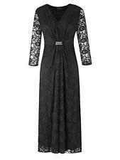 Grace Embellished  Lace Maxi Dress 12 Black