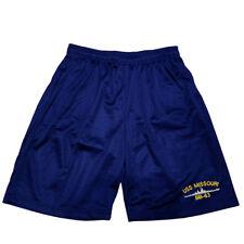 USS MISSOURI BB-63 Mens Athletic Jersey Mesh Basketball Shorts