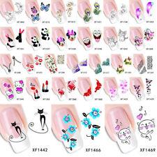 Nail Sticker Nagelsticker Fingernägel Tattoo Aufkleber Fuß Schmetterlinge Blume