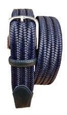 Cintura 3,5 cm elasticizzata in pelle