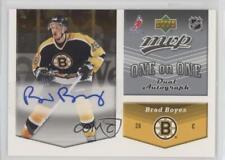 2006-07 Upper Deck MVP One on Dual Autographs #OA-BS Brad Boyes Yan Stastny Auto