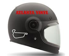 Adams Motorsports Park Track Decal Outline Vinyl Helmet MacBook iPad Track Day
