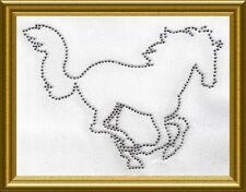 Hotfix -  Bügelbild Strass großes Pferd Pferde 100911 Karostonebox