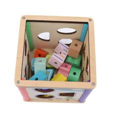 Wooden Geometric Board 3D Block Puzzle Toy Kid Intelligence Development Gift LG