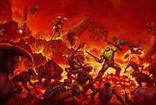 Doom Game Poster |5 Sizes| #2 PC Dos Atari Xbox PS4 3DO Sega Snes Jaguar Saturn