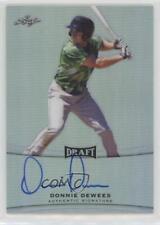 2015 Leaf Metal Draft #BA-DD1 Donnie Dewees Chicago Cubs Auto Baseball Card