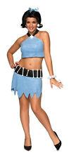 THE FLINTSTONES BETTY RUBBLE SEXY ADULT WOMEN COSTUME Blue Dress Theme Halloween