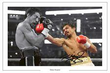MANNY Pacquiao BOXE firmato Autograph Foto Stampa