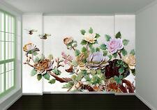 3D  Jasmin Fleur 2 Photo Papier Peint en Autocollant Murale Plafond Chambre Art