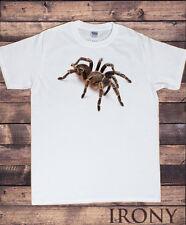 Bianco Uomo Halloween Paura ragno-spettrale 3D Tarantola- Horror T-Shirt TS264